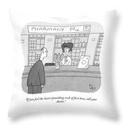 The Rush Of First Love Throw Pillow