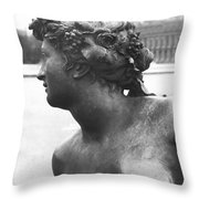 The Saone River From The Parterre D'eau In The Gardens, 1685, Detail, Bronze Throw Pillow