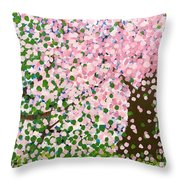 The Scenery Of Spring Throw Pillow