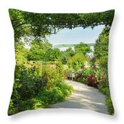 The Scent Of Monet Throw Pillow