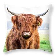 The Scottish Highlander Throw Pillow