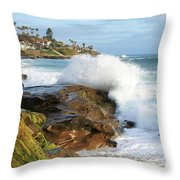The Sea Was Angry That Day My Friends Throw Pillow