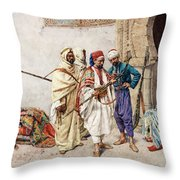 The Seller Of Arms Throw Pillow
