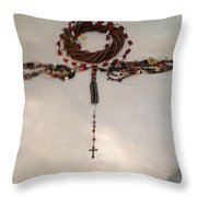 The September 11th Rosary One Throw Pillow