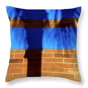 The Shadow Shows Throw Pillow by Rick Locke