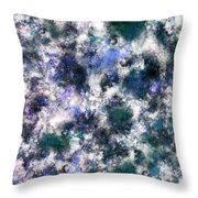 The Silent Blue Decay Throw Pillow