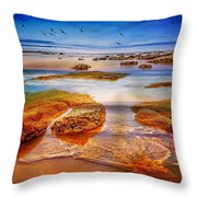 The Silent Morning Tide Throw Pillow