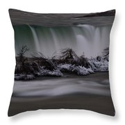 The Silky Horseshoe Falls Throw Pillow