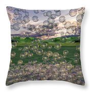 The Simplicity Of Bubbles  Throw Pillow