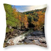 The Sinks On Little River Road In Smoky Mountains National Park Throw Pillow