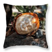 The Sleeping Pumpkinman  Throw Pillow