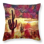 The Sonoran Saguaro  Throw Pillow