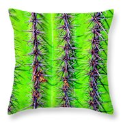 The Spines Of The Cactus Throw Pillow