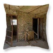 The Stone Jailhouse Interior Throw Pillow