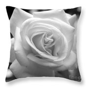 The Subtle Rose Throw Pillow by Jeni Gray
