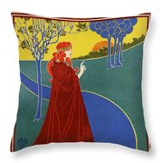 The Sun, American Vintage Poster Throw Pillow