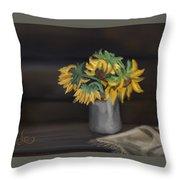 The Sun Flowers  Throw Pillow