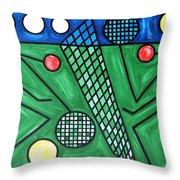 The Tennis Match Throw Pillow