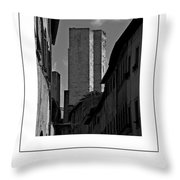 The Twin Towers Of San Gimignano, Italy Poster Throw Pillow