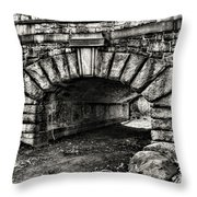 The Underpass Black And White Throw Pillow
