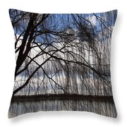 The Veil Of A Tree Throw Pillow