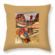 The Venician Bird Throw Pillow