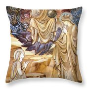 The Vision Of Saint Catherine Throw Pillow