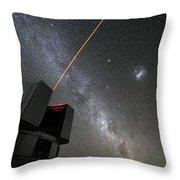 The Vlts Laser Guide Star Throw Pillow