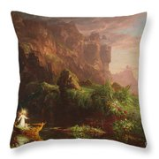 The Voyage Of Life Childhood, 1842 Throw Pillow