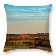 The Wakarusa River Valley Throw Pillow by Jeff Phillippi