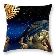 The Wickers-... Out For A  Midnight Swim... Throw Pillow