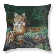 The Wild Cat  Throw Pillow
