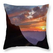 The Window At Sunset, Big Bend National Throw Pillow