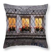 The Windows Of Sofia Throw Pillow