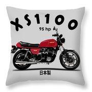 The Yamaha Xs1100 Throw Pillow