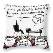 Therapy Assignment Throw Pillow