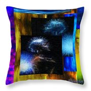 These Colors I Hear When Nancy Wilson Sings Turned To Blue  Throw Pillow