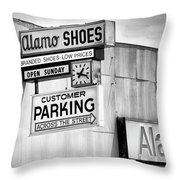 These Shoes Alamo Shoes Throw Pillow