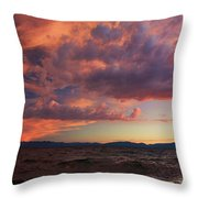 They Come In Waves  Throw Pillow by Sean Sarsfield