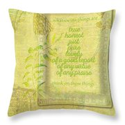 Things To Think About Throw Pillow