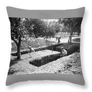 This Is A Planned Dig Throw Pillow