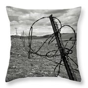 This Old Fence Throw Pillow by Carl Young