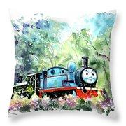 Thomas The Tank Engine In Buckfastleigh Throw Pillow