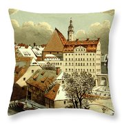 Thomasschule In Leipzig Throw Pillow