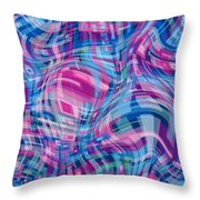 Thought Patterns - Warped #1 Throw Pillow