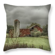 Threatening Skies Throw Pillow by Judy Hall-Folde
