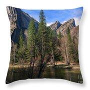Three Brothers, Yosemite National Park Throw Pillow