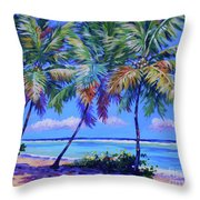 Three Palms- East End Throw Pillow
