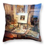 Through An Artists Window Throw Pillow