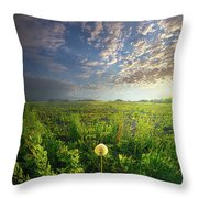 Through Strength Of Faith Throw Pillow